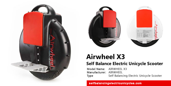 Airwheel New X3 Upgrade Self Balance Electric Unicycle Scooter Review