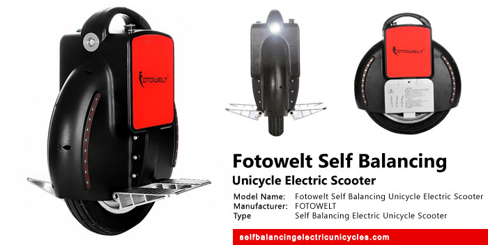 Fotowelt Self Balancing Unicycle Electric Scooter Review