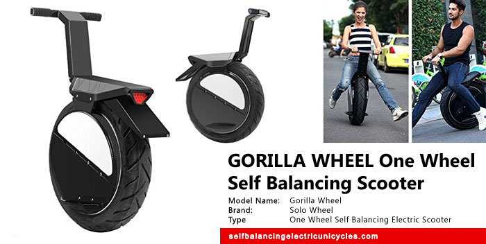 Gorilla Wheel One Wheel Self Balancing Electric Scooter