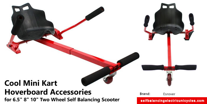 "Cool Finds: Cool Mini Kart Hoverboard Accessories for 6.5"" 8"" 10"" Two Wheel Self Balancing Scooter"
